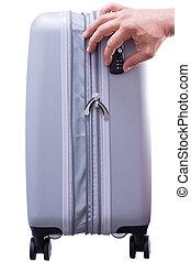 TSA compliant security lock on a case