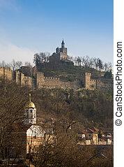 tsarevets, festung, in, veliko, turnovo, bulgaria.