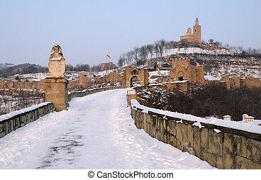 Tsarevets Sronghold in the Winter