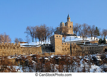 Tsarevets Stronghold in the Winter