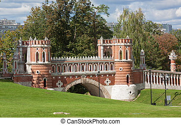 Bridge in Tsaritsyno Park in Moscow