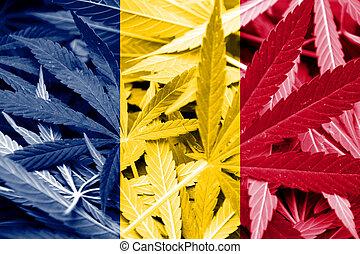 tschad markierung, auf, cannabis, hintergrund., droge, policy., legalization, von, marihuana