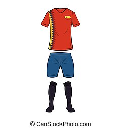 tshirt, calcio, spagna