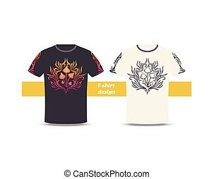 Tshirt Design Abstract Mushroom Two - Design tshirt with a...