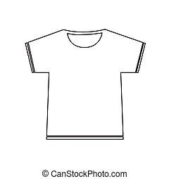 tshirt, diseño, muestra en blanco, icono, ilustración