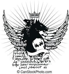 tshirt, heraldisch, jas, armen, 7