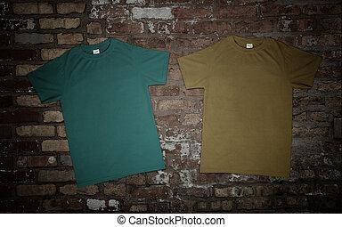Tshirt on the brick wall