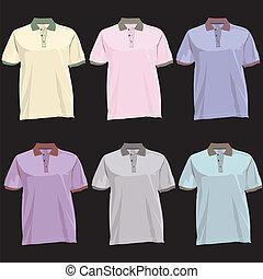Tshirt template set
