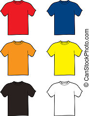 tshirt variation - collection of six tshirts in different...
