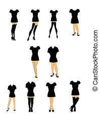 tshirts and heels - variety of women in t shirts and heels...