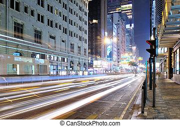 Tsim Sha Tsui Shopping Street at Night