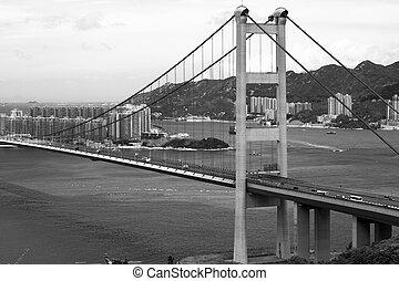 Tsing Ma Bridge in Hong Kong.