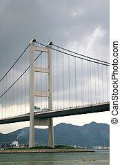 Tsing Ma Bridge in Hong Kong