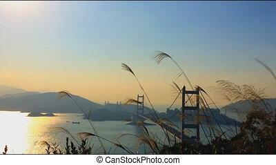 Tsing Ma Bridge is a bridge in Hong - Time lapse of Tsing Ma...