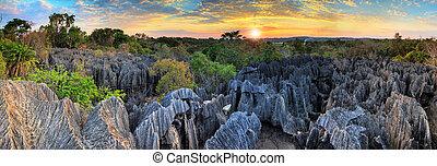 Tsingy panorama sunset