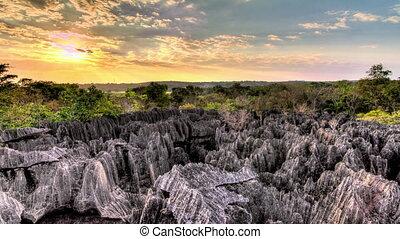 Tsingy sunset timelapse