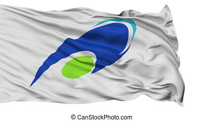 Tsu Capital City Isolated Flag - Tsu Capital City Flag, Mie...