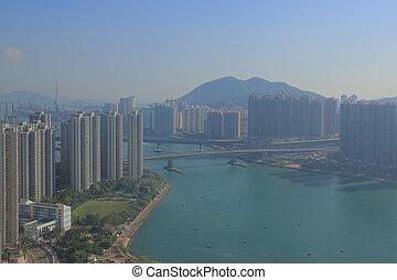 tsuen wan, in, hongkong