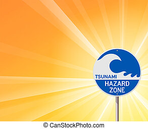 tsunami, avertissement, soleil