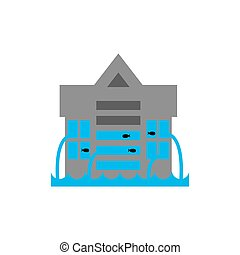 Tsunami Building. Flood house. many of water architecture....