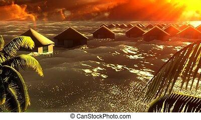 tsunami, domki wypoczynkowy, devastating