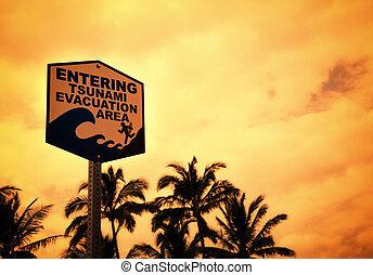 Tsunami information sign