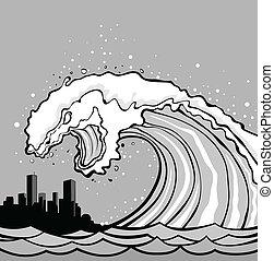 tsunami, monstruo