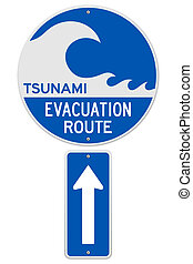 tsunami, parcours, évacuation