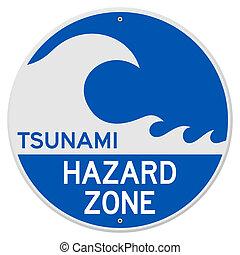 tsunami, peligro, zona