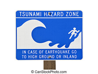 Tsunami Warning Zone Sign