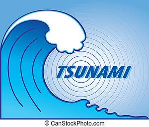 Tsunami Wave, Earthquake Epicenter - Giant tsunami wave...