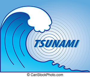 Tsunami Wave, Earthquake Epicenter - Giant tsunami wave...