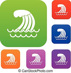 Tsunami wave set collection