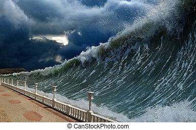 tsunami, wellen