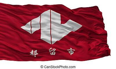 Tsuru City Flag, Japan, Yamanashi Prefecture, Isolated On ...