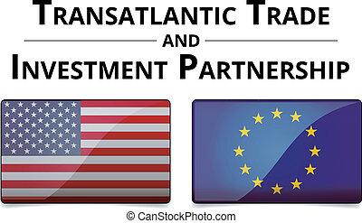 ttip, 協力, -, 取引しなさい, 大西洋横断, 投資