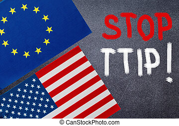 TTIP free trade agreement between USA and Europe