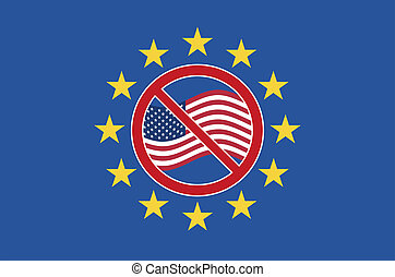 TTIP Protest Sign - Symbol against the Transatlantic Trade ...