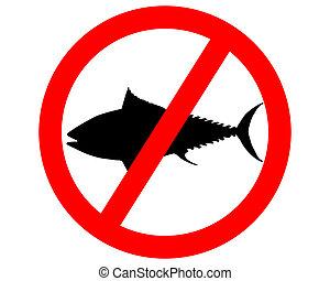 tuńczyk, wędkarski, zakaz, znak