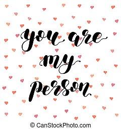 tu, é, meu, person., escova, lettering, illustration.