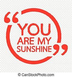 tu, é, meu, sol, ilustração, desenho