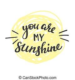 tu, é, meu, sol, lettering.