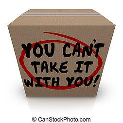 tu, can't, tomar, aquilo, com, tu, palavras, caixa papelão,...