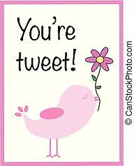 tu, tweet, valentine