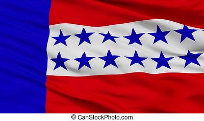 tuamotu, ville, drapeau, polynésie française, closeup, îles