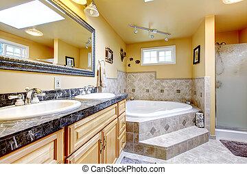 Außergewöhnlich Tub., Badezimmer, Stil, Bad, Jacuzzi, Luxus