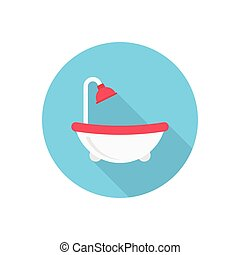 tub  flat color icon
