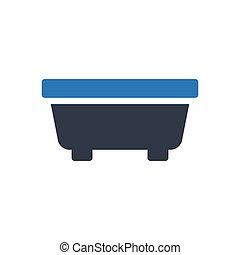 tub glyph color icon