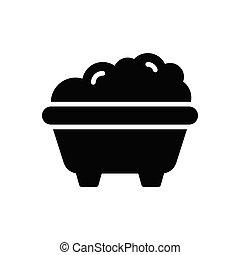 tub glyph flat icon