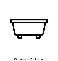 tub thin line icon
